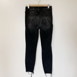 MOTHER Jeans - MOTHER High Waisted Looker Ankle Fray Night hawk